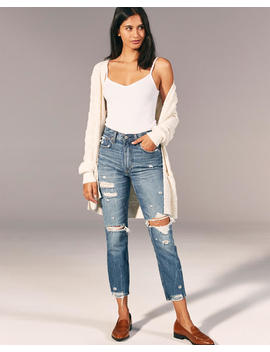 Ripped High Rise Mom Jeans by Abercrombie & Fitch