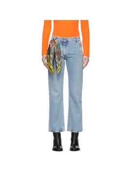 Blue Crop Jeans by Off White