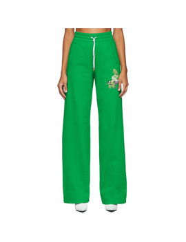Green Logo Lounge Pants by Off White
