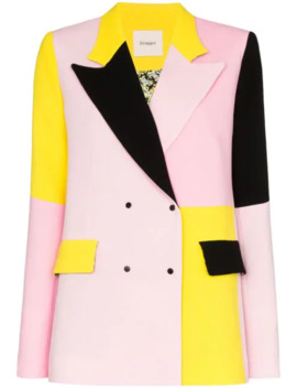 Gurli Colour Block Wool Blazer by Brogger