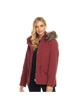 Only Womens Starlight Fur Parka Merlot by Only