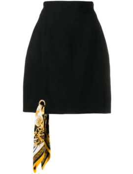 A Line Barocco Scarf Skirt by Versace