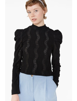Broderie Anglaise Top by Monki