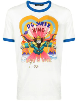 Dg Super King Graphic Print T Shirt by Dolce & Gabbana