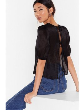 Tie To Be Kind Puff Sleeve Blouse by Nasty Gal