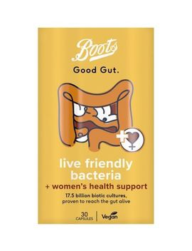 Boots Good Gut Live Friendly Bacteria + Women's Health Support 30 Capsules by Boots Pharmaceuticals