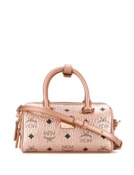 All Over Logo Print Tote by Mcm