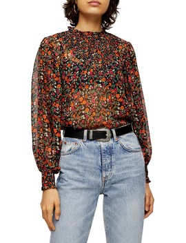 Ditsy Floral Print Blouse by Topshop