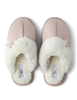 Suedette Mule Slippers by Bouxavenue
