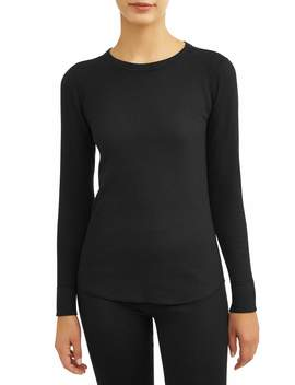 Hanes Women's X Temp Thermal Waffle Crew Top With Fresh Iq by Hanes