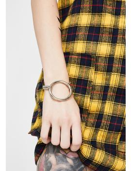 Omg Wtf Chain Bracelet by Dolls Kill