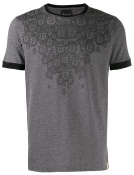 Crest Print T Shirt by Billionaire