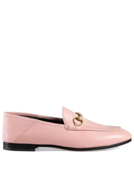 Pink Brixton Leather Loafers by Gucci