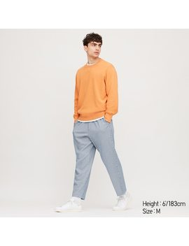 Men Jersey Relaxed Fit Trousers by Uniqlo