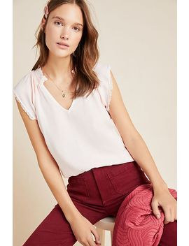 Cloth & Stone Chambray V Neck Blouse by Cloth & Stone