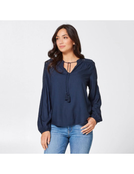 Perry Lace Yoke Blouse   Navy Blue by Target