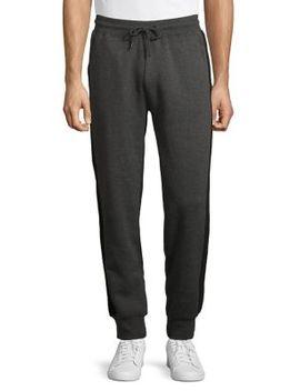 Side Striped Cotton Blend Jogger Pants by Askya