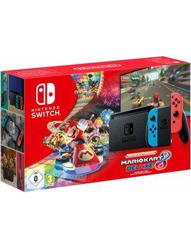 Nintendo Switch Console   32 Gb   Blauw/Rood   Nieuw Model + Mario Kart by Nintendo