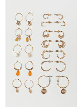12 Pairs Hoop Earrings by H&M