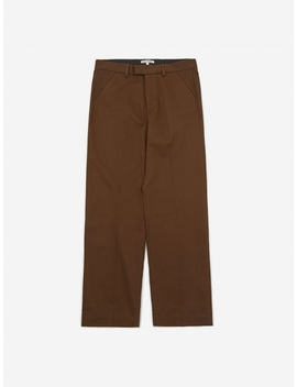 Chino 24   Dark Brown Satin by Our Legacy