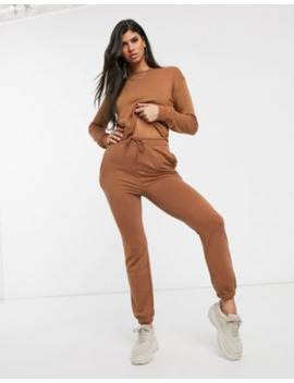 Pretty Little Thing Co Ord Sweat In Camel by Asos