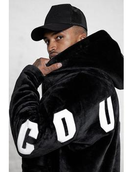 Fur Applique Hoodie by Couture Club