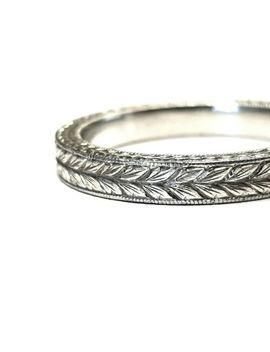 Hand Engraved Platinum Ring 6 Us by Ebay Seller