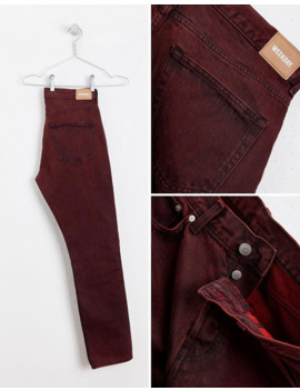 Weekday Vacant Straight Fit Rosewood Punk Jeans by Weekday