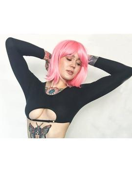 Sexy Fetish Top, Long Sleeve Cotton Crop Top, Open Cup Lingerie, Sexy Wife Gift, Plus Size Erotic Lingerie, Bondage Crop Top, Cupless Top by Etsy