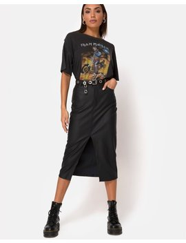 Pyra Midi Skirt In Pu Black By Motel by Motel