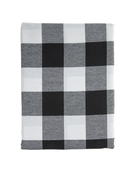 White & Black Buffalo Check Tablecloth by Hobby Lobby