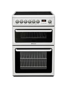 Hotpoint Hae60 P 60cm Double Oven Electric Cooker   White836/3031 by Argos