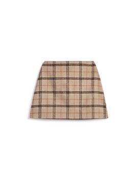 Camel Tartan Skirt by Primark