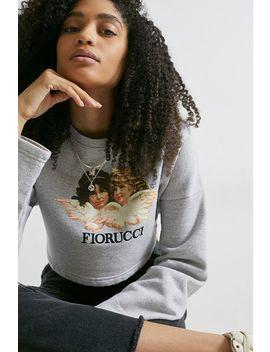 Fiorucci Vintage Angles– Graues, Kurzes Sweatshirt Mit Rundhalsausschnitt by Fiorucci Shoppen