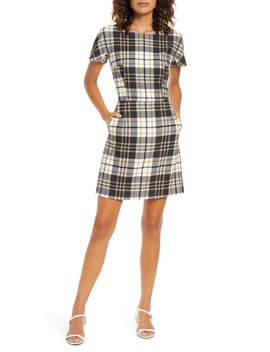 Eleanor Plaid Sheath Dress by French Connection