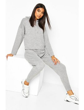 Tall Hooded Knitted Lounge Set by Boohoo