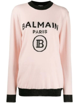 Oversized Logo Knitted Sweater by Balmain