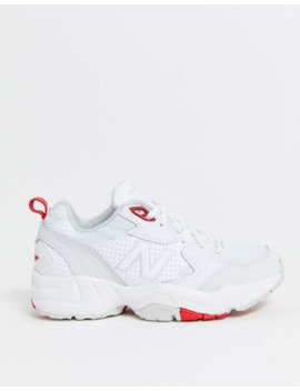 New Balance 708 Chunky Trainers In White &Amp; Grey by New Balance