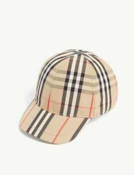 House Check Cotton Cap by Burberry