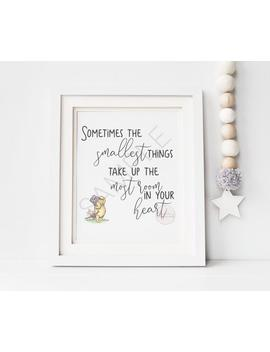 Sometimes The Smallest Things | Winnie The Pooh Digital Printable Quote | Nursery Decor, Party Printable, Instant Download, Classic Pooh by Etsy