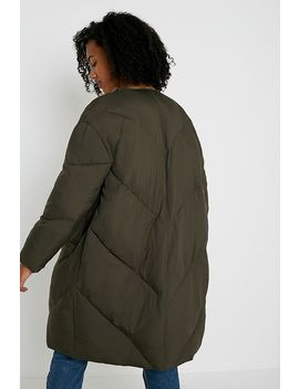 Uo Maxi Length Quilted Liner Jacket by Urban Outfitters