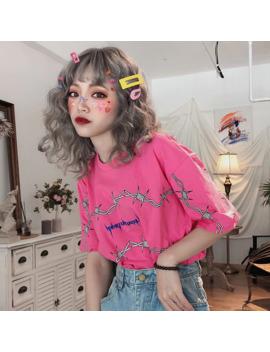 Summer Dropshipping Casual Print Harajuku Vintage Tees Top Vegan Punk Shirt Ulzzang Gothic Clothes Short Sleeve Hip Hop Tshirt by Ali Express.Com