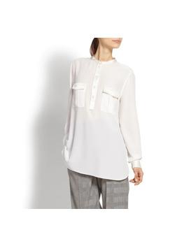 Silk Shirt With Satin Trim by Salvatore Ferragamo