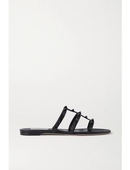 Valentino Garavani Rockstud Leather Sandals by Valentino