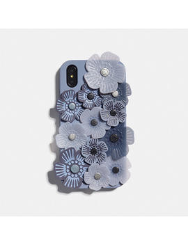 Iphone Xr Case With Tea Rose Applique by Coach