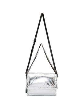 Silver 'the Metallic Pillow' Bag by Marc Jacobs