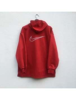 Nike Vintage Jaren 90 Nike Swoosh Borduren Groot Logo Halfzipper Hooded by Etsy