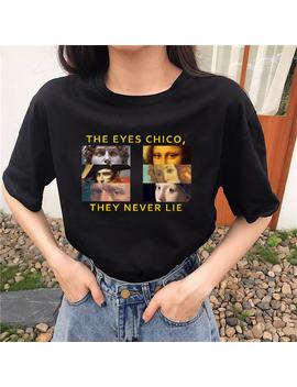 Van Gogh Art Print T Shirt Women's Summer New Chic Harajuku Fun Letters Fashion Large Size Loose Turtleneck Casual Women T Shirt by Ali Express.Com
