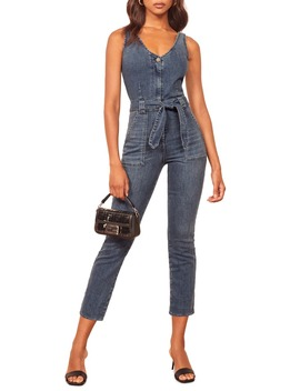 Minka Crop Denim Jumpsuit by Reformation