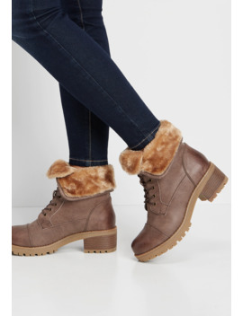 Wanda Faux Fur Foldover Hiker Boot by Maurices